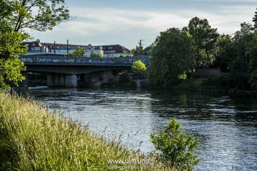 Eisenbahnbrücke für den Rückweg nach Ulm