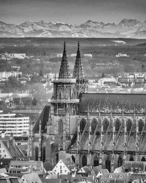 Ulmer Münster und die Alpen