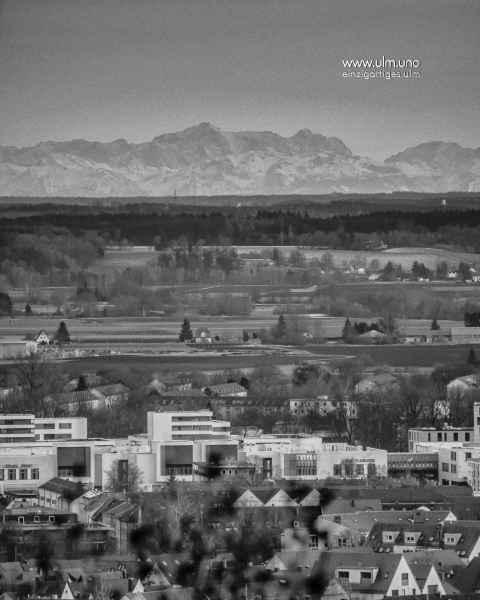 Fön - Alpensicht von Ulm aus