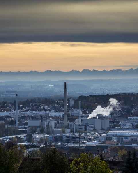 Die Alpen von Ulm gesehen
