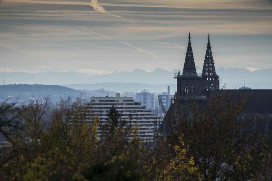 Fernsicht auf die Alpen - Ulm